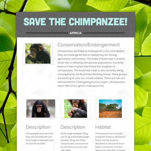Save the Chimpanzee!
