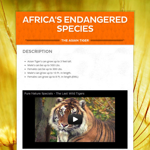 Africa's endangered species