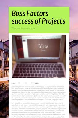 Boss Factors success of Projects