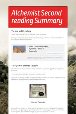 Alchemist Second reading Summary