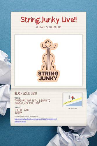 StringJunky Live!!