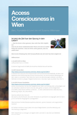 Access Consciousness in Wien