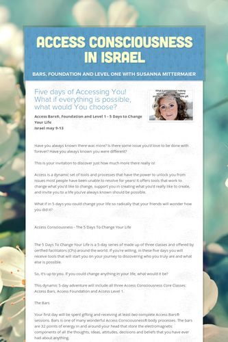 Access Consciousness in Israel