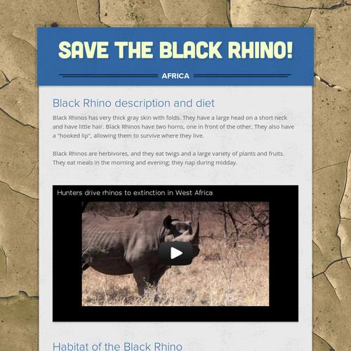 Save the Black Rhino!
