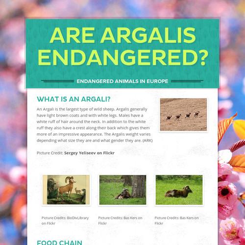 Are Argalis endangered?