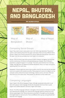 Nepal, Bhutan, and Bangladesh