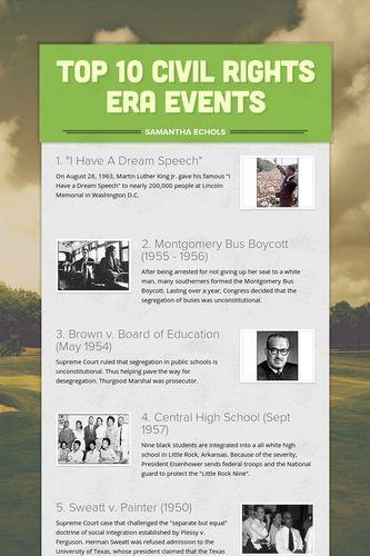Top 10 Civil Rights Era Events