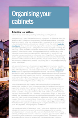 Organising your cabinets