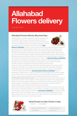 Allahabad Flowers delivery