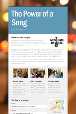 The Power of a Song
