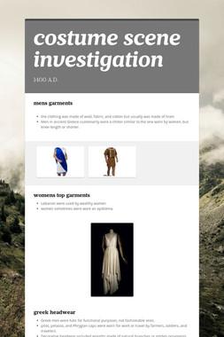 costume scene investigation