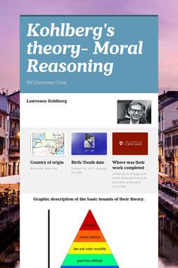 Kohlberg's theory- Moral Reasoning