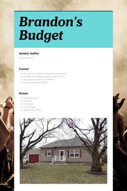 Brandon's Budget