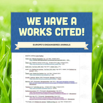 We Have a Works Cited!