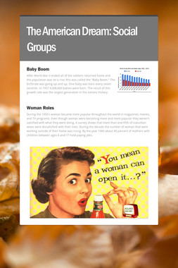The American Dream: Social Groups