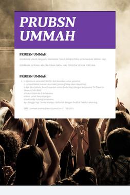 PRUBSN UMMAH