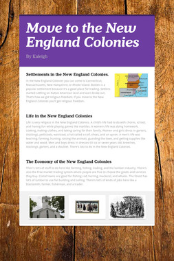 Move to the New England Colonies