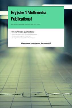 Register 4 Multimedia Publications!