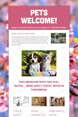 Pets Welcome!