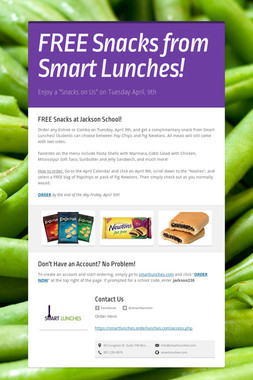 FREE Snacks from Smart Lunches!