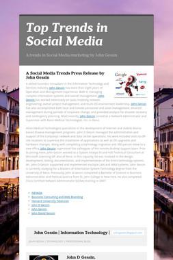 Top Trends in Social Media