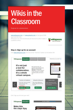 Wikis in the Classroom