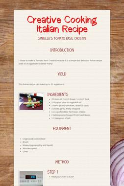 Creative Cooking Italian Recipe