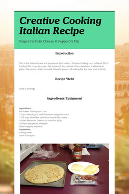 Creative Cooking Italian Recipe