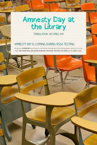 Amnesty Day at the Library