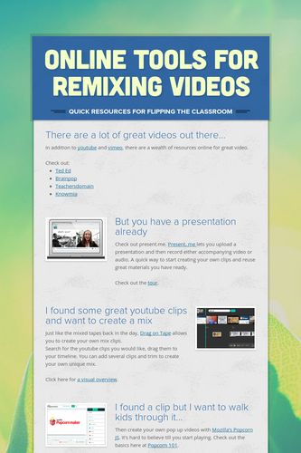 Online tools for Remixing Videos
