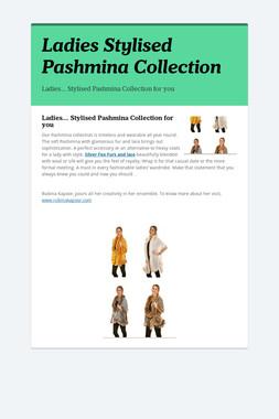 Ladies Stylised Pashmina Collection