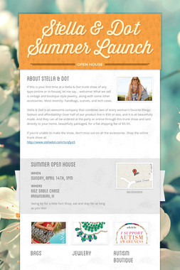 Stella & Dot Summer Launch