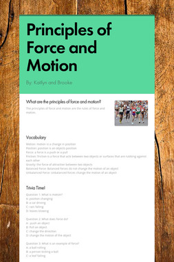 Principles of Force and Motion