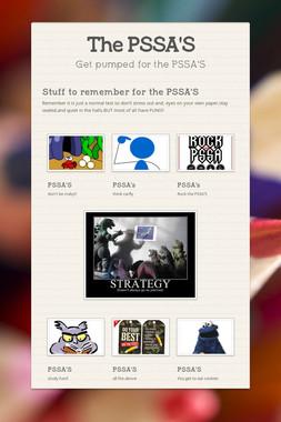 The PSSA'S