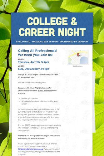 College & Career Night