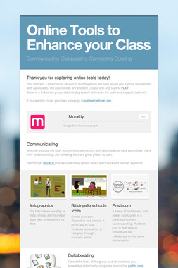Online Tools to Enhance your Class