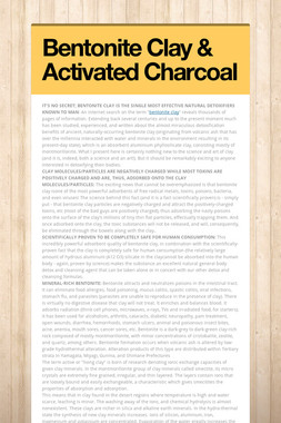 Bentonite Clay & Activated Charcoal