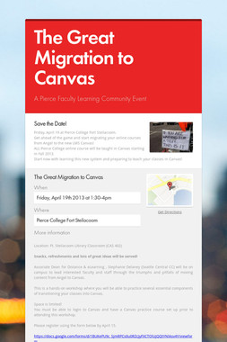 The Great Migration to Canvas