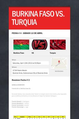 BURKINA FASO VS. TURQUIA