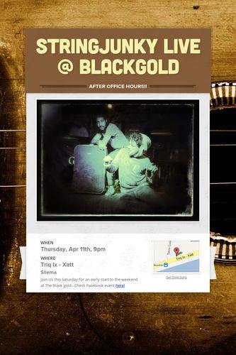 STRINGJUNKY Live @ Blackgold
