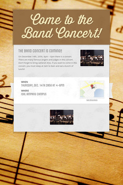 Come to the Band Concert!