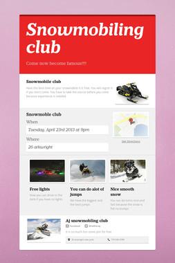 Snowmobiling club
