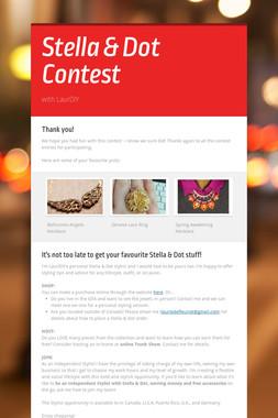 Stella & Dot Contest