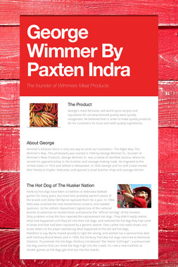 George Wimmer By Paxten Indra