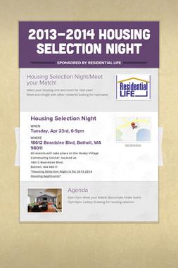 2013-2014 Housing Selection Night