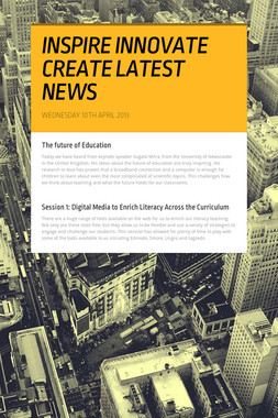 INSPIRE INNOVATE CREATE LATEST NEWS