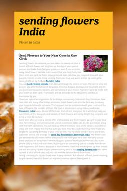 sending flowers India