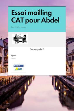 Essai mailling CAT pour Abdel