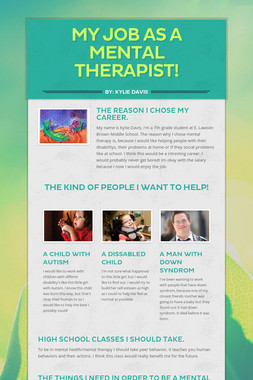 My Job As A Mental Therapist!