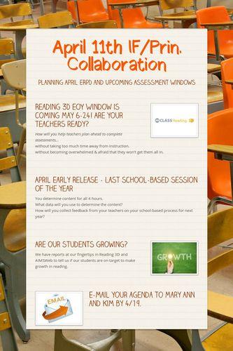 April 11th IF/Prin. Collaboration